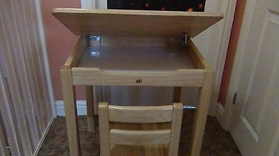 children PINTOY  solid wood desk with a chair