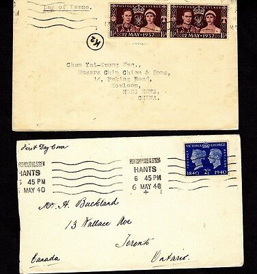 GB 1937 and 1940  (3) FDCs