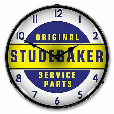Studebaker Parts and Service Lighted Wall Clock