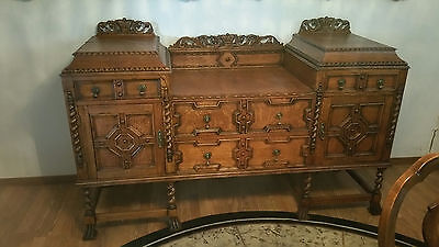 Victorian Buffet Cabinet 1800's with Original Finish