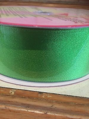 Ribbon - Spring/Easter Green 3.8cm Wide - Wire Edged - (Brand New)Buy Today.{=