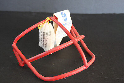 Schutt Vintage Football Helmet Facemask NOPO Red New 70's Standard Size red dot