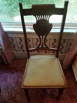 Set of 6 antique oak  dining room chairs