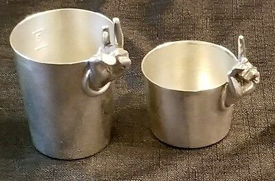 Napier Vintage Silver Plate Double One / Two Fingers Shot Measuring Barware