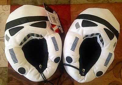 NEW!  Star Wars STORM TROOPER Slippers Disney Youth Size 9-10