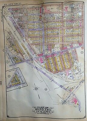 1929 E. Belcher Hyde Atlas Map Forest Hills Park And Gardens Glendale Queens Ny