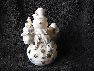 Frosty the Snow man ~ Votive Tealight Candle Holder