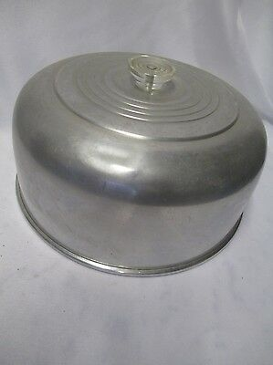 Vintage Mid Century Aluminum Cake Carrier Cake Plate Cover Replacement Top