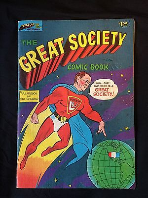 The Great Society Comic Book, 1966 with SUPER LBJ on the cover, good condition