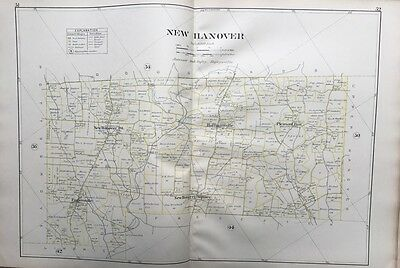 1893 Montgomery County Pa New Hanover, Hoffmansville Pleasant Run Plat Atlas Map