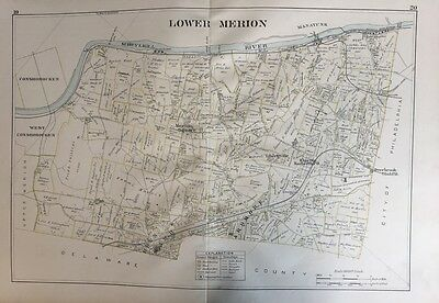 1893 Jl Smith Montgomery County Pa Lower Merion Belmont Driving Park Atlas Map