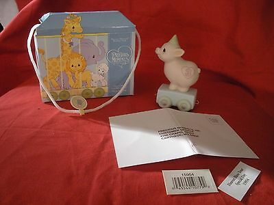 "Precious Moments Birthday Train ""heaven Bless Your Special Day"" Age 3 New W/box"