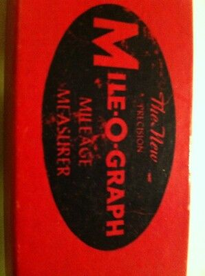 Vintage Mile-O-Graph Mileage Measure Map Measuring Instrument With Instructions