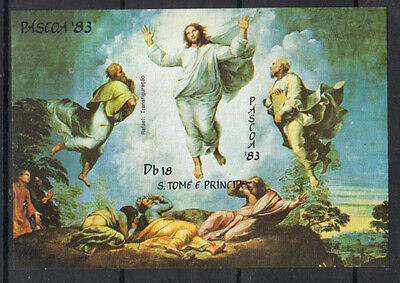 S.Tome & Principe 1983 EASTER Transfiguration by Raphael MNH S/S SC # 698