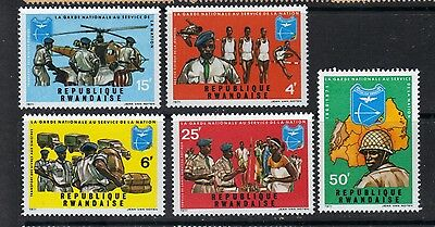 Rwanda 1972 The National Guard Serving the Nation MNH SC # 431-435