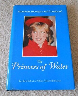 American Ancestors & Cousins of the Princess of Wales Diana 1984 Family Tree