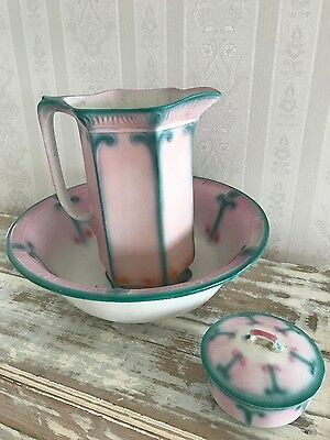 Antique Wash Basin, Pitcher and Soap Dish ,England