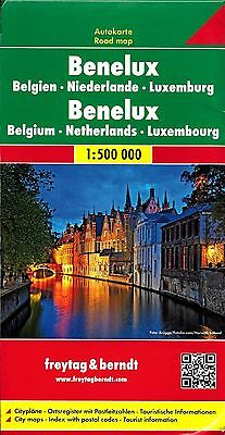 Map of Benelux (Belgium, Netherlands, Luxemburg) by Freytag & Berndt (2005)