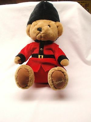 "Harrods Knightsbridge London Royal Palace Guard Stuffed Plush 14"" Bear"