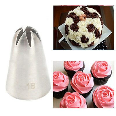 Fashion Rose Flower Icing Piping Tips Nozzle Cake Cupcake Decorating Pastry Tool