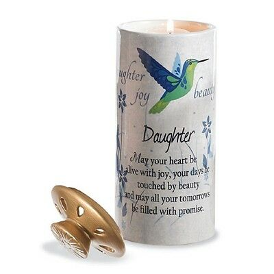 Tealight  Heart Warmer  Candle Holder For A  ''daughter''  Ceramic New