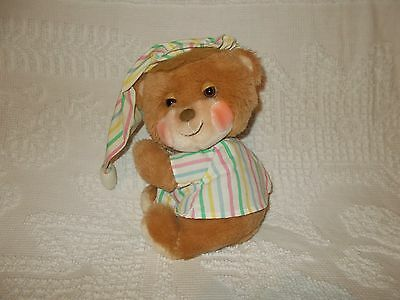 Vintage 1980's Fisher Price Teddy Beddy Bear Plush Lovey Animal #1401