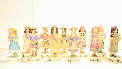 Willitts Birthday Figurines Girls Resin Statues Collectors Choice Lot 11 Vintage