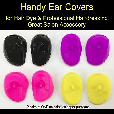 2 pairs of Handy Ear Covers for Hair Dye & Hairdressing Great Salon Accessory