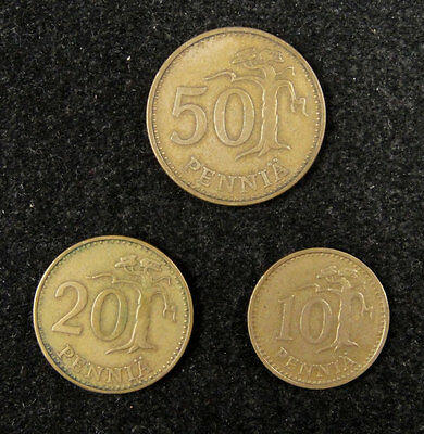Finland Coins Set of 3 Pieces 1963 and 1965