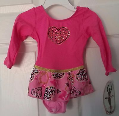 Jacques Moret Dark Pink Dance - Leotard - Long Sleeve - Size 2T - New With Tags