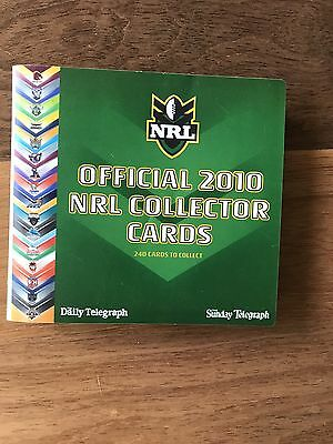 2010 Official NRL Collector Cards : COMPLETE Full Set of 240 Cards + Album