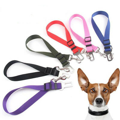 Cat Dog Pet Safety Auto Car Strap Seatbelt Seat Belt Adjustable Harness Lead h2