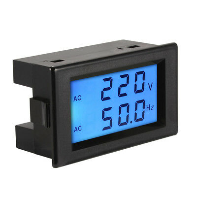 AC80-300V Voltmeter 45-65.0Hz Frequency Voltage Meter LCD Dual Display MA1225