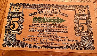 1920 Vintage Wrigley's Perfect Spearmint Chewing Gum Stock Coupon