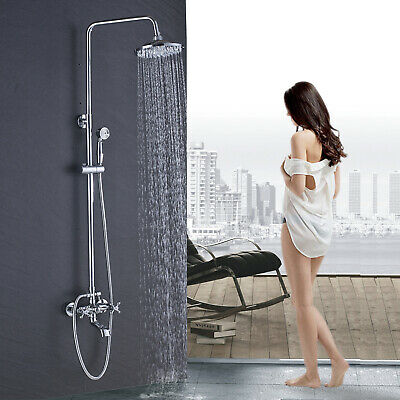 Rose Golden Shower Panel Tower Rain Waterfall With Massage System with Jets Tap