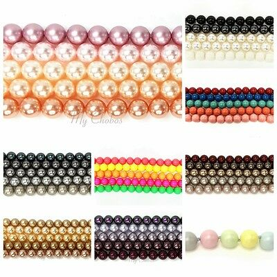 Genuine Swarovski 5810 Crystal Round Pearls Beads Mixed *Pick Sizes & Colours