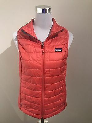 Patagonia Women's Red Zip Front Puffer Vest - Size S