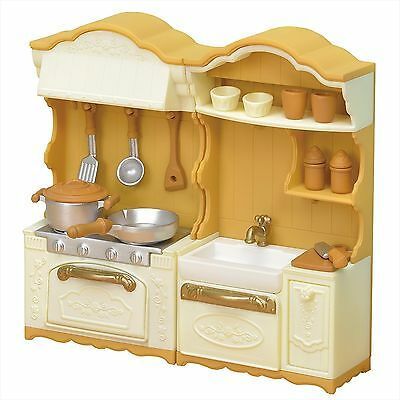 Calico Critters Sylvanian Families KA-420 Kitchen Stove and Sink Set New Model