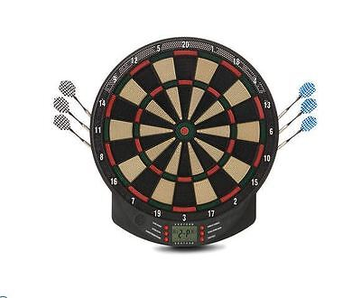 Electronic Dartboard Dart w/ 6 Soft Tip Darts FAMILY Fun Board Gameplay Party