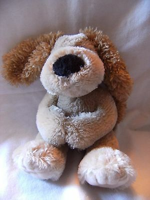 Russ Berrie Wellington The Dog Soft Toy  With Magnetic Hands  Rikey Austin 11""