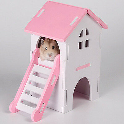 New Small Animal Hamster House DIY Wooden Nest Mouse Bed Pet Supplies