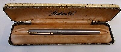 Parker 61 Hooded Gold Nib Fountain Pen  with case (B)