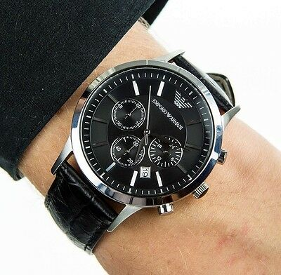 original bmw m chronograph armbanduhr schwarz uhr chrono. Black Bedroom Furniture Sets. Home Design Ideas