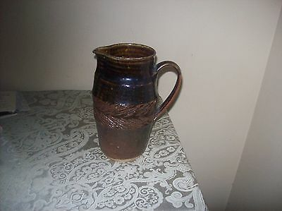 Antique Brown Stoneware jT  GREAT COLLECTIBLE