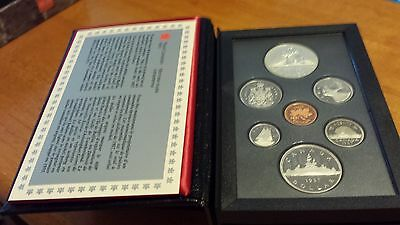 1987 Royal Canadian Mint Proof Set Silver Double Dollar w/COA & BOX - HOT!