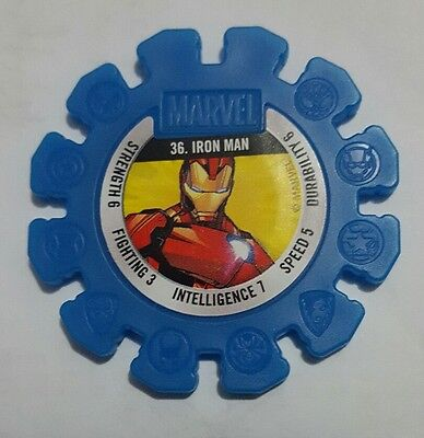 Woolworths Marvel Heroes Super Discs #36 36 IRON MAN Rare