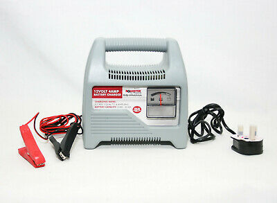 12V PORTABLE 12 VOLT 4AMP Car Battery Charger With Jump Starter Booster Lead 31C