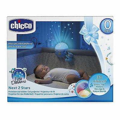 Chicco Next2 Stars  Light Projector, Blue Baby Night Light and Soothing Music