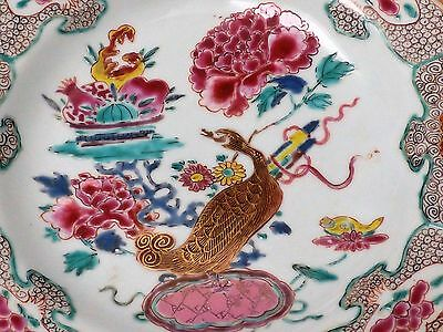 A Fantastic Pair of Chinese Qianlong Porcelain plates Qing,famille rose ducks
