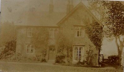 Great Britain Wales 1910 Real Photo Post Card Of Cottage With Caersws Thimble